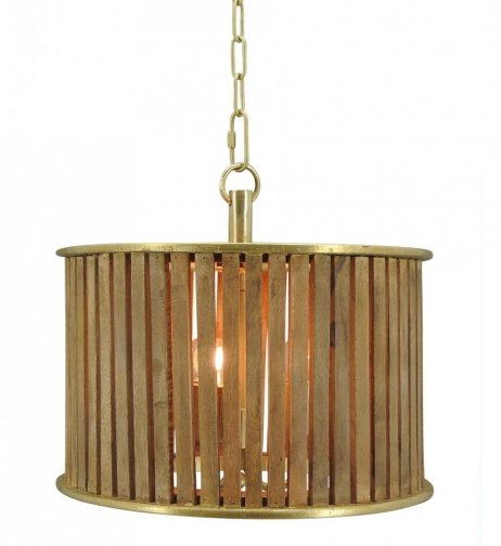 Hanglamp Nassau large natural wood / brass