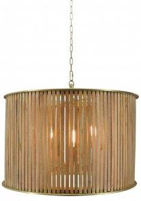 Hanglamp Nassau X-Large natural wood / brass