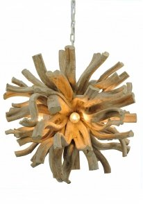 Hanglamp Troyes natural wood